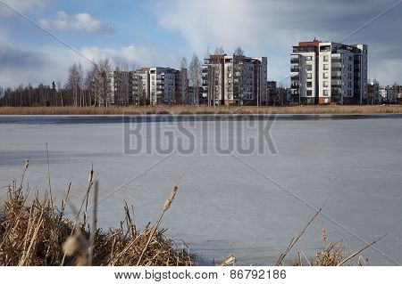 Apartment Houses By The Lake
