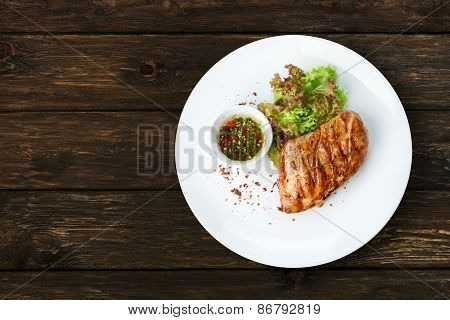 Restaurant Food - Chicken Fillet Grilled Steak