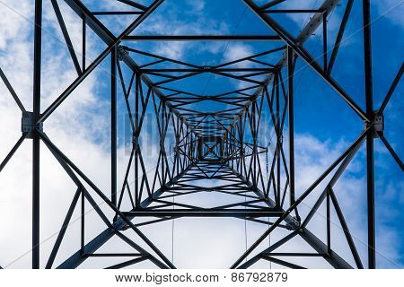High Voltage Power Pole Texture Background.
