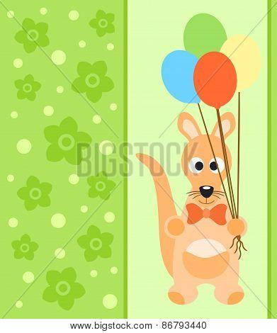 Background card with kangaroo