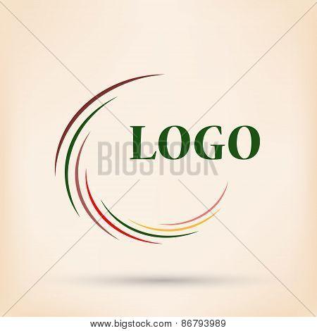 Abstract colorful rainbow swirly illustration, logo design