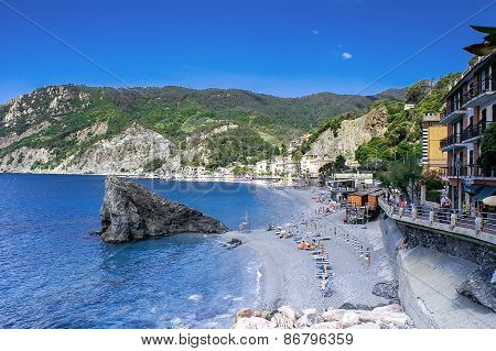 View Of The Beach Of Monterosso Al Mare