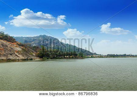 Mountain  Landscape  And   River