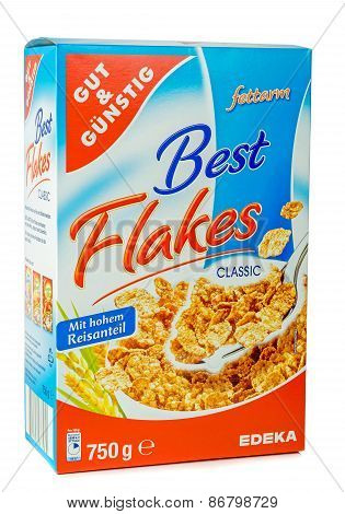 A box bran flakes cereal