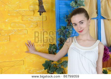Rustic Portrait Of A Young Woman