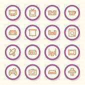 stock photo of home theater  - Home Appliance web icons set - JPG