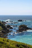 picture of mendocino  - A view of the ocean along the coast of Mendocino