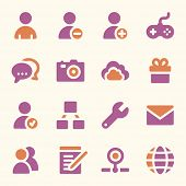 picture of internet icon  - Social media web icons set - JPG