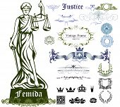 pic of justice  - Set of justice symbols - JPG