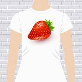 image of t-shirt red  - Fun t - JPG