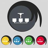 image of chandelier  - Chandelier Light Lamp icon sign - JPG