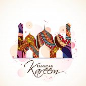 image of kareem  - Beautiful colourful floral design on a mosque - JPG