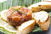 pic of tartar  - salmon tartar with red onion - JPG