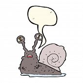 picture of grossed out  - cartoon gross snail with speech bubble - JPG