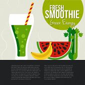 stock photo of fruit shake  - Fruit smoothie vector concept - JPG