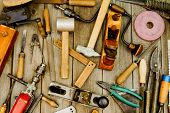 picture of messy  - Old working tools - JPG