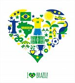 stock photo of brazil carnival  - Brazil icon set - JPG