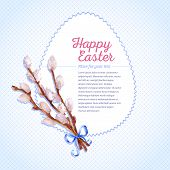picture of willow  - Easter card - JPG