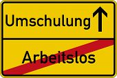 foto of unemployed people  - The German words for unemployed and retraining  - JPG