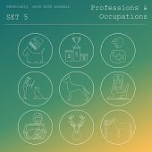 pic of working animal  - Professions and occupations coloured icon set - JPG