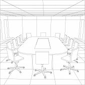 picture of interior sketch  - Interior office meeting room - JPG