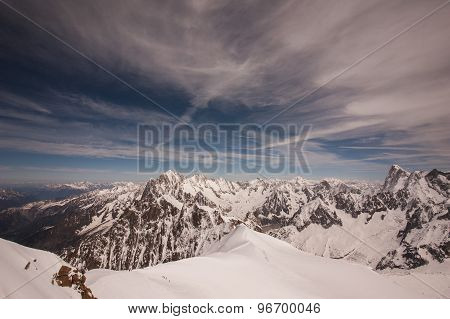 Mont Blanc Massif In French Alps