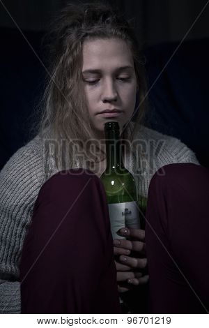 Girl And Bottle