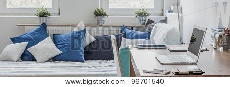 Study And Sleeping Room Combination