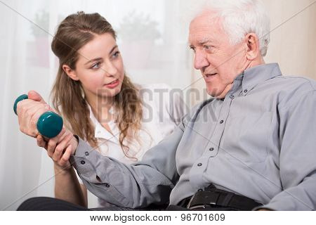 Elder Man's Home Therapy