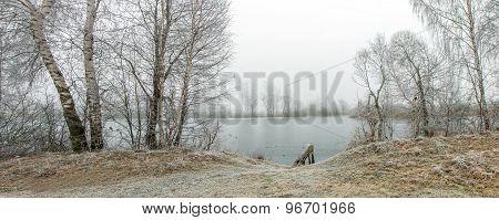 Footbridge At The Lake Panorama