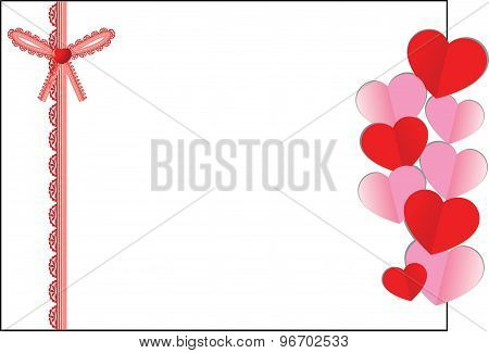 Valentine's greeting cards border