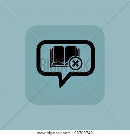 Pale blue remove book message