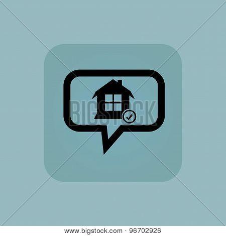 Pale blue select house message
