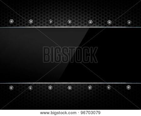 black glasses on metal background