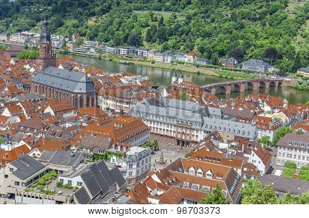 Day view of Heidelberg, Germany