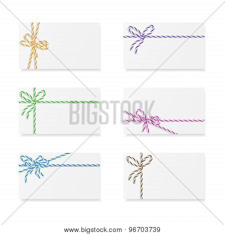 Card notes with gift bows