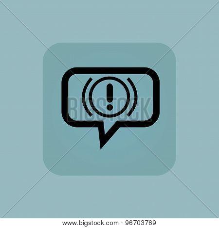 Pale blue alert message icon