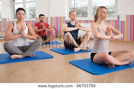 Yoga Training On Foam Mattress
