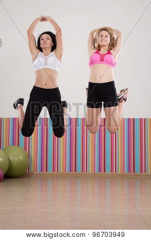 Athletic Girls During Fitness Classes