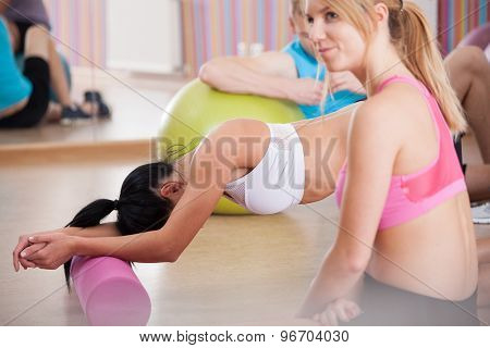 Tired Girls After Pilates Training