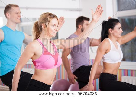 Friends Having Aerobics Workout
