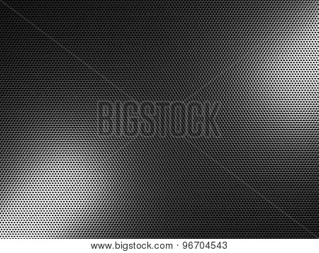 3d image of classic dotted metal plate texture