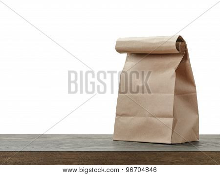 simple brown paper bag for lunch or food