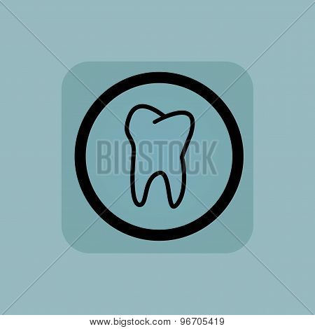 Pale blue tooth sign