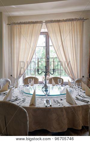 Wedding Table In Luxury Restaurant