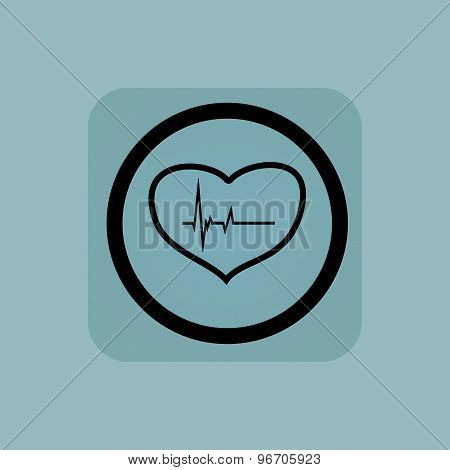 Pale blue cardiology sign