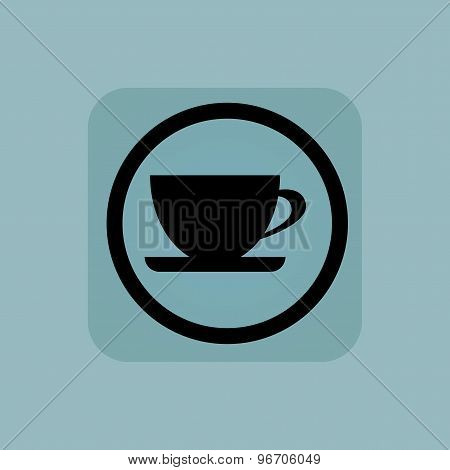 Pale blue cup sign