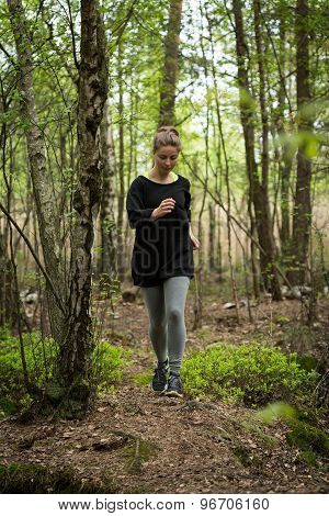 Jogging In The Forest