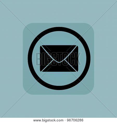 Pale blue letter sign