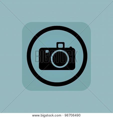 Pale blue camera sign